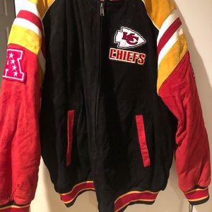 NFL licensed Kansas City Chiefs suede jacket